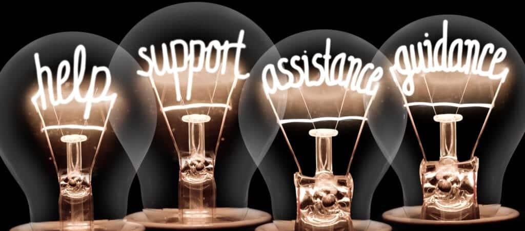 help, support, assistance, guidance