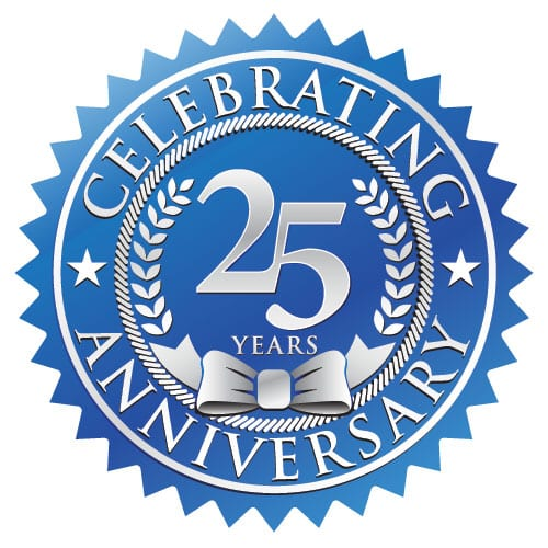 celebrating our 25 year anniversary
